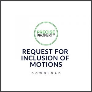 Request for Inclusion of Motions Download